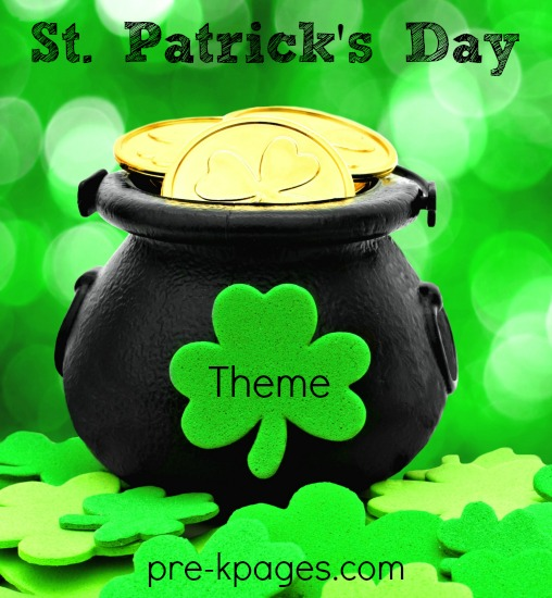 St. Patrick's Day Theme Activities for Preschool and Kindergarten