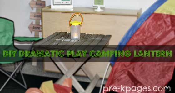 DIY Lantern for Dramatic Play Camping