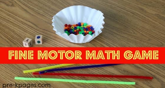 Fine Motor Math Game