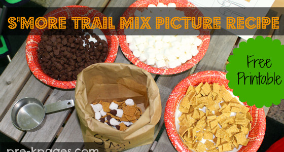 Printable S'More Trail Mix Recipe for Indoor Camping