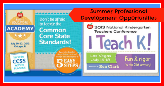 Summer Professional Development Opportunities for Pre-K, Kindergarten, and First Grade Teachers
