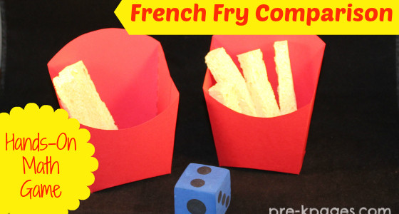 French Fry Comparison Math Game