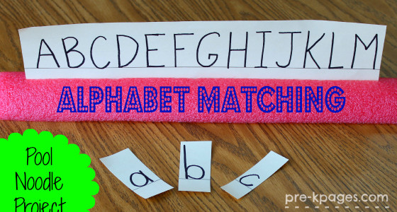 Pool Noodle Letter Matching