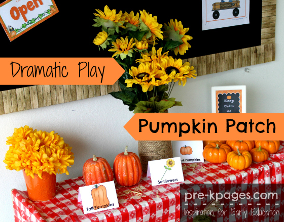 Pumpkin Patch Dramatic Play Theme for #preschool and #kindergarten