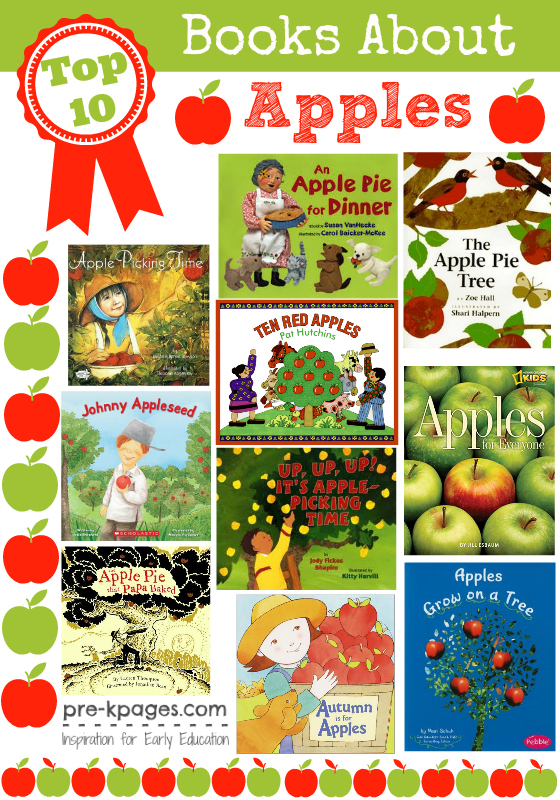 Top 10 Apple Books for #preschool and #kindergarten