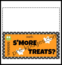Free Printable Halloween S'More Treat Topper