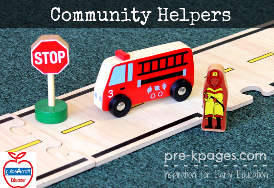 Community Helper Vehicles and People from Guidecraft