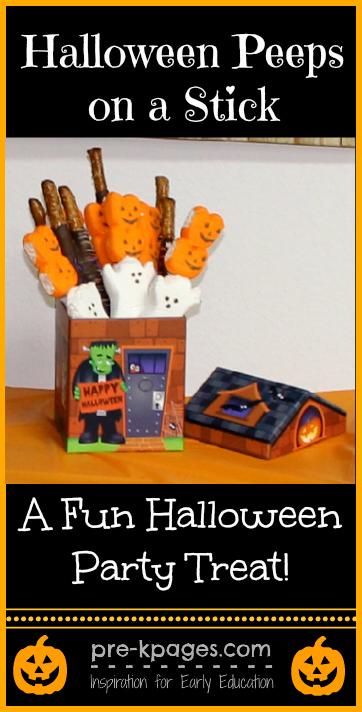 Halloween Peeps on a stick party treat