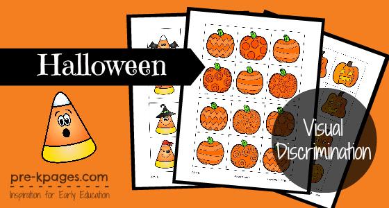 Halloween Visual Discrimination Activity