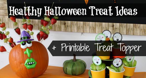 Healthy Halloween Treats + Free Printable