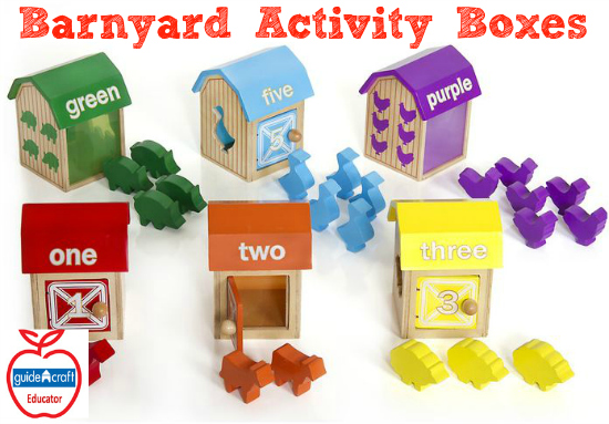 Guidecraft Barnayard Activity Boxes