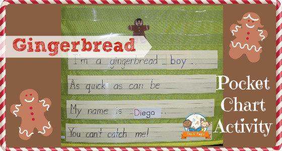 Gingerbread Pocket Chart Name Activity