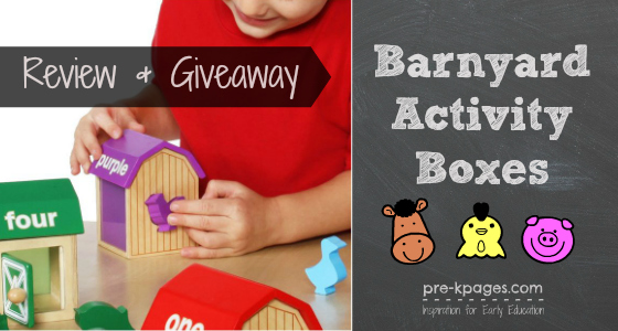 Barnyard Activity Boxes {Guidecraft Giveaway}