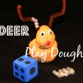 Reindeer Play Dough Math Game for Preschool and Kindergarten