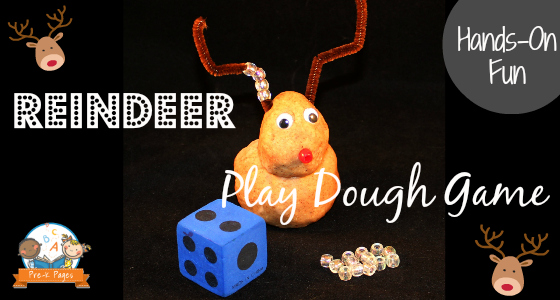 Reindeer Play Dough Game