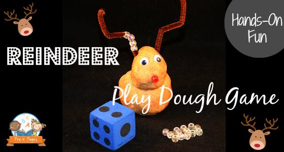 Reindeer Play Dough Game