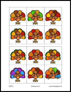 Free Printable Thanksgiving Visual Discrimination Activity for #preschool and #kindergarten