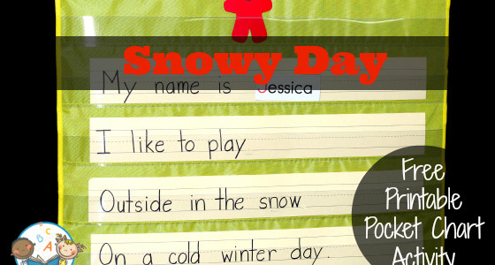 The Snowy Day Pocket Chart Activity
