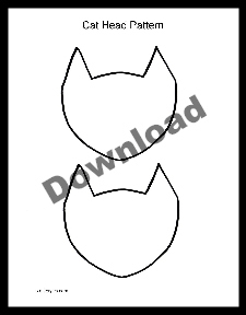 free printable cat head pattern