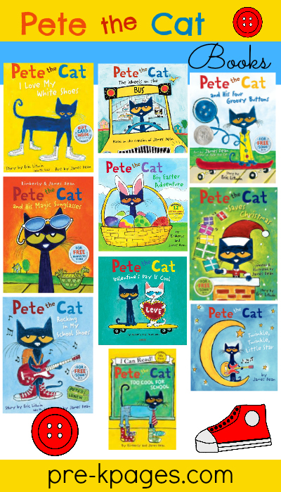 Pete the Cat Story Books for #preschool and #kindergarten