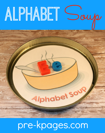 Alphabet Soup Magnetic Letter Learning Activity