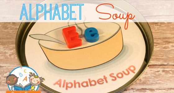 Magnetic Letter Alphabet Soup Activity