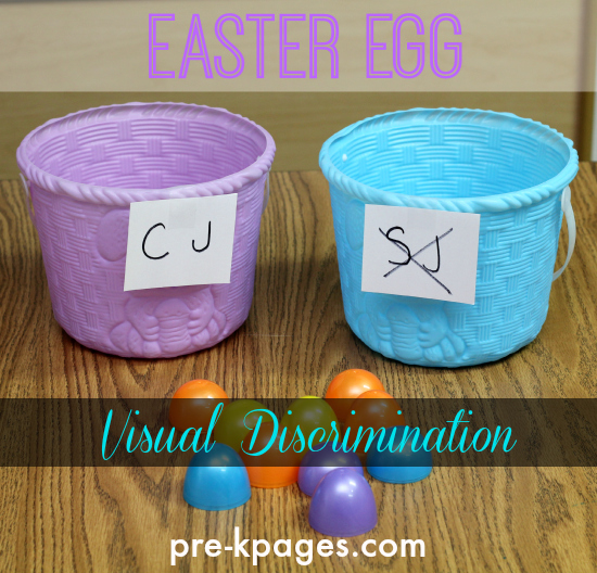 Easter Egg Visual Discrimination Activity #preschool