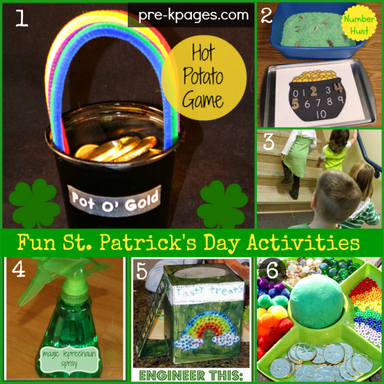 Fun St. Patrick's Day Activities for Kids #preschool #kindergarten