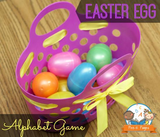Alphabet Sorting with Plastic Easter Eggs #preschool