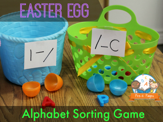 Visual Discrimination Plastic Easter Egg Activity #preschool