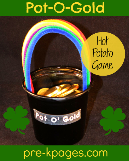 Fun St. Patrick's Day Hot Potato Game for #preschool and #kindergarten