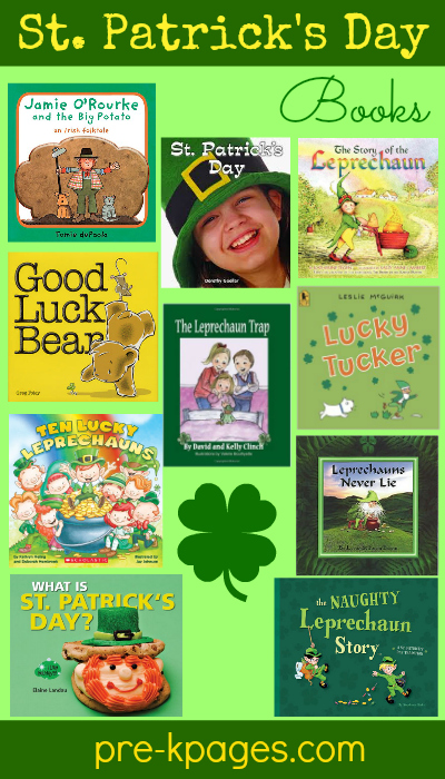 Top 10 St. Patrick's Day Books for kids in #preschool and #kindergarten