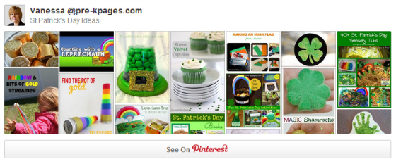 St. Patrick's Day Pinterest Board