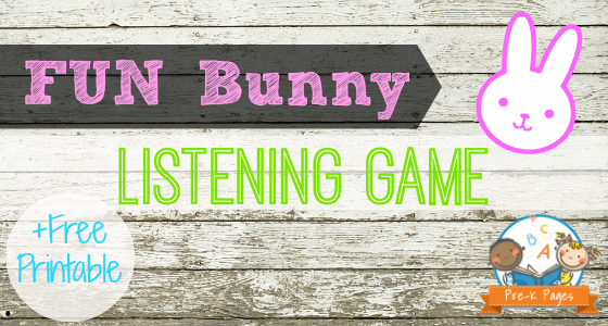 Fun Bunny Listening Game for #preschool #kindergarten
