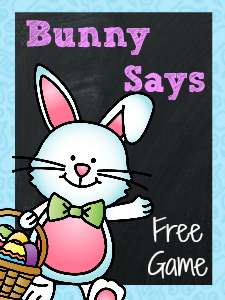 Free Printable Bunny Listening Game for #preschool and #kindergarten