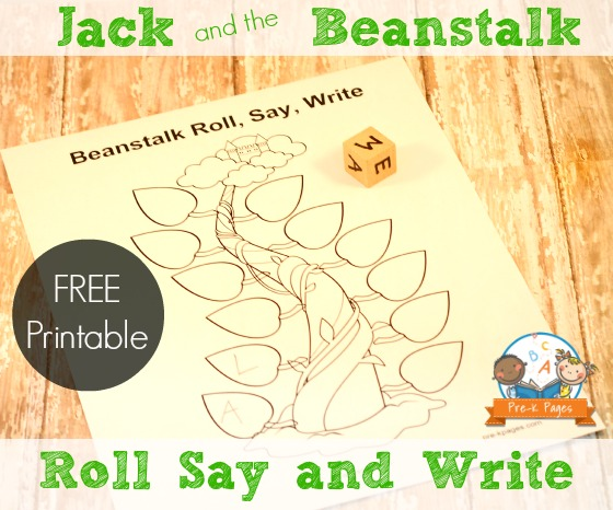 Jack and the Beanstalk Alphabet Printable