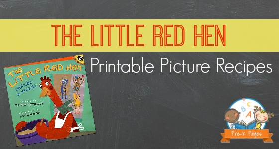 Little Red Hen Printable Picture Recipes
