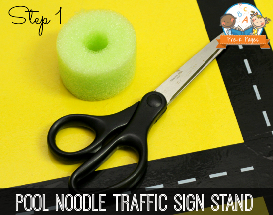 How to Use Pool Noodles to Make Environmental Print Traffic Signs