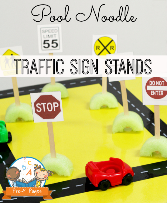 Add Environmental Print to the Block Center with these Free Printable Traffic Signs