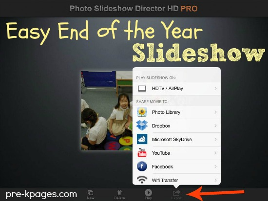 How to Save and Share the End of the Year Slideshow