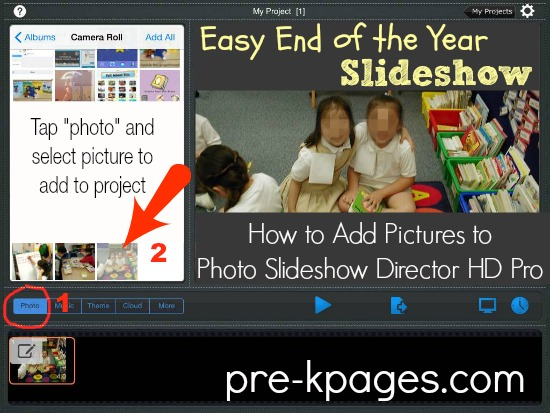 Easy End of the Year Slideshow Creation