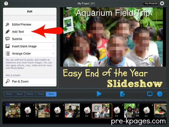 How to Make an Easy  End of the Year Slideshow