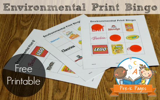 Environmental Print Bingo: Free Printable Game for Preschool and Kindergarten