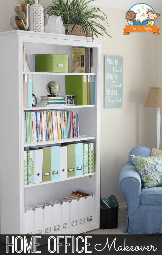 Home Office Makeover Styled Bookcase