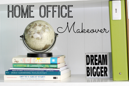 Budget Friendly Blue and Green Home Office Makeover