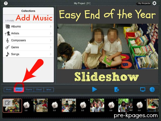 Add Music to Your End of the Year Slideshow