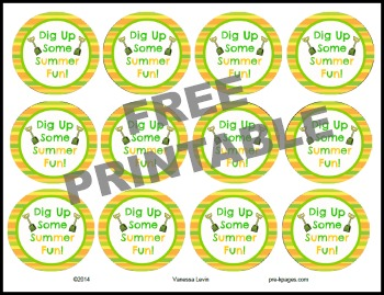 Printable Sand Bucket Tags for End of the Year Gift in #preschool or #kindergarten