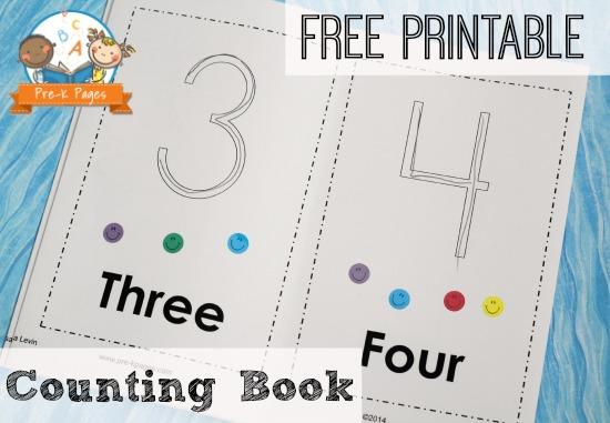 preschool number book printable counting book 179