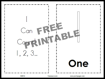 printable i can count book - Printable Kindergarten Books