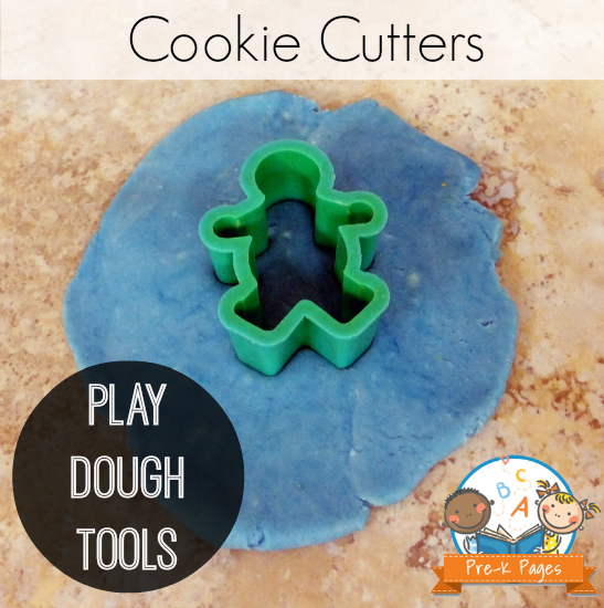 Using Cookie Cutters in the Play Dough Center